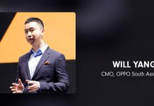 Will Yang CMO, Oppo South Asia