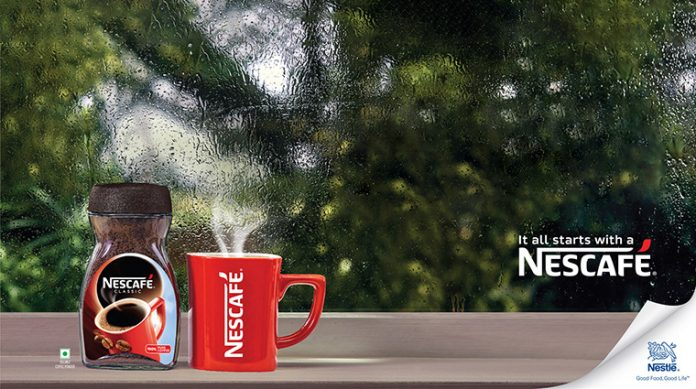 Nescafe takes a discrete approach with its latest OOH advertisement