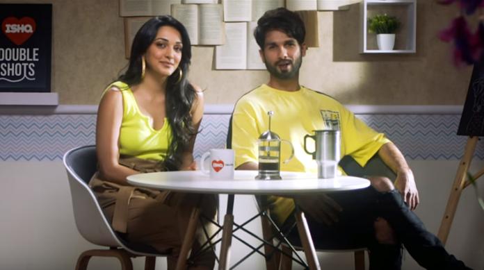 Shahid and Kiara on Ishq Double Shots