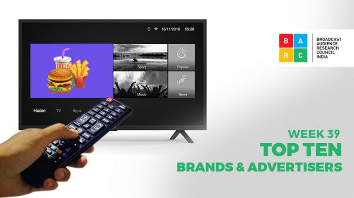 BARC Week 39- Top Advertisers and Brands