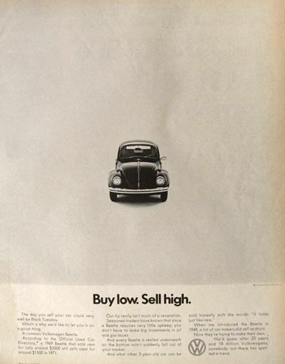 Beetle print ads