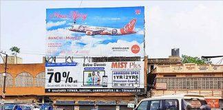 AirAsia India OOH campaign