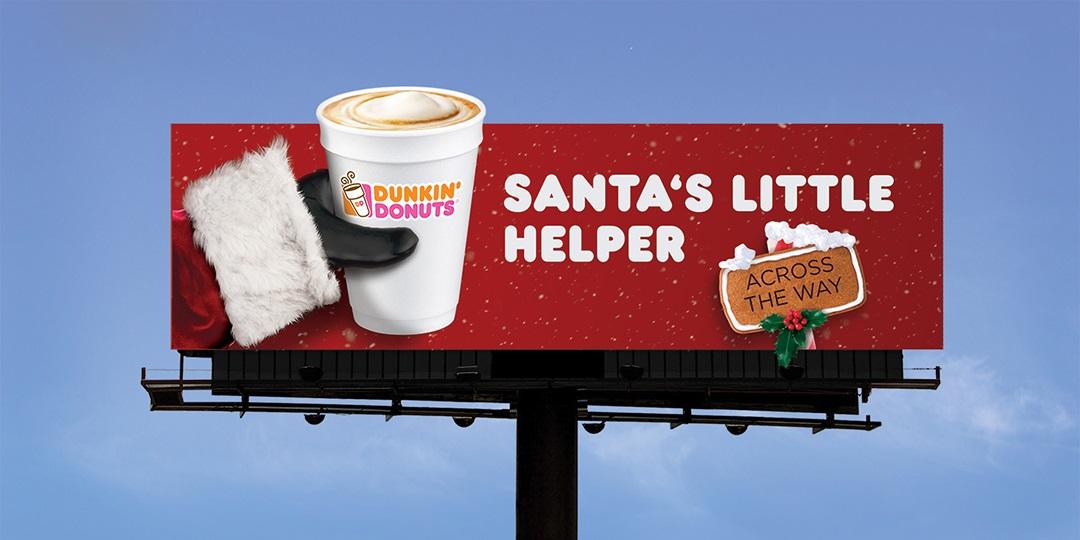 DunkinDonuts Christmas OOH Adverts