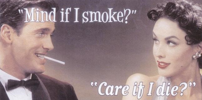 Anti-smoking message