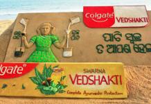Colgate Vedshakti sand art