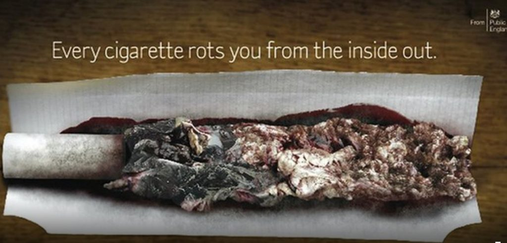 anti-smoking OOH adverts- Public Health England