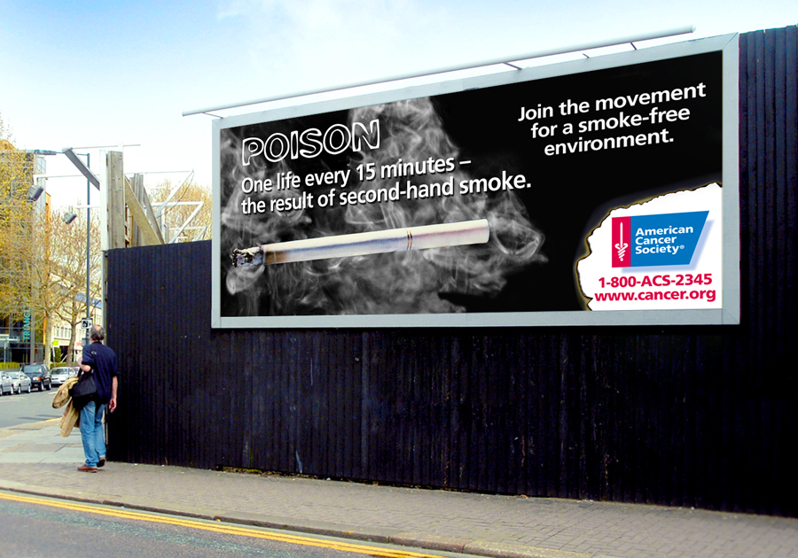anti-smoking OOH advert 8