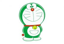 UNIQLO Green Doraemon
