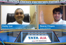 Neeraj Chopra TATA AIA